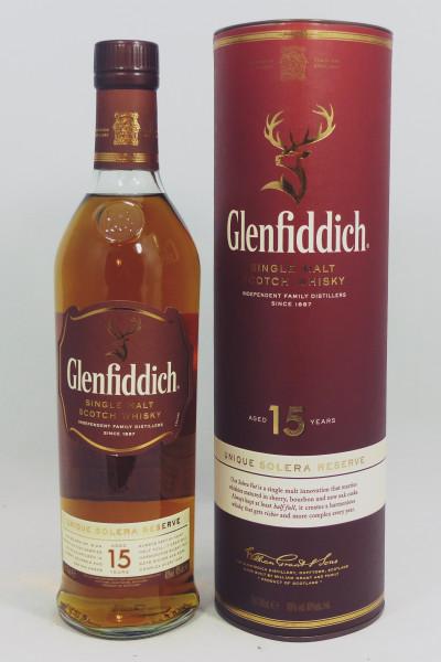 Glenfiddich 15 Jahre Unique Solera Reserve