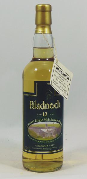 Bladnoch 12 Jahre 2001/13 Bourbon Cask #118 Distillery Label