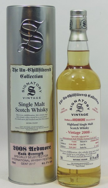 Ardmore 2008/17 Signatory Vintage Collection for Whisky Festival Gent