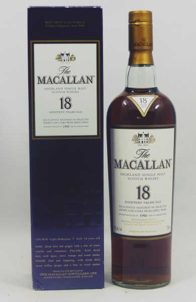 Macallan 18 Jahre 1990 Sherry Oak matured 750ml US-Version