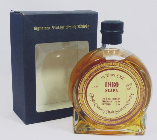 Scapa 16 Jahre 1980 b. 1996 Signatory Vintage - round Bottle