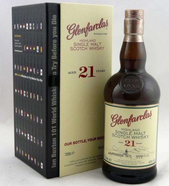 Glenfarclas 21 Jahre GePa mit Whisky Buch