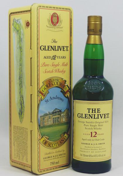 Glenlivet 12 Jahre Pure Malt - Classic Golf Courses of Scotland - St. Andrews TIN