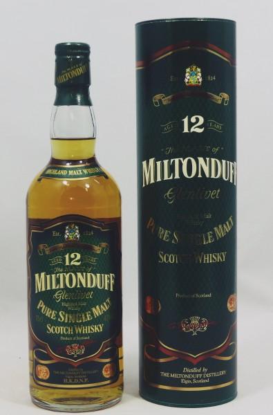 Miltonduff Glenlivet 12 years old - Pure Malt Scotch Whisky, Green Label