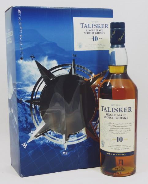 Talisker 10 Jahre b. 2017 mit 2 Stück Rocking Glas