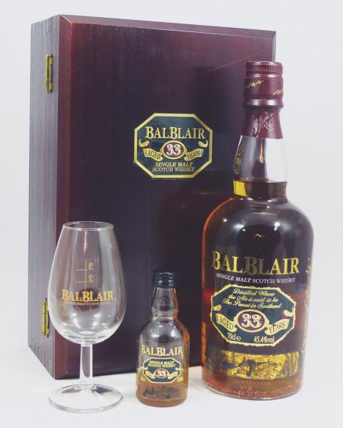 Balblair 33 years b. 2000 - GP mit Glas und Miniatur