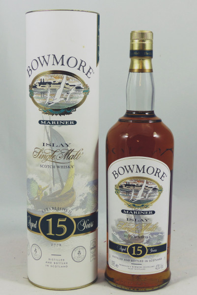 Bowmore Mariner 15 Jahre old Style Seagull Label 1Liter