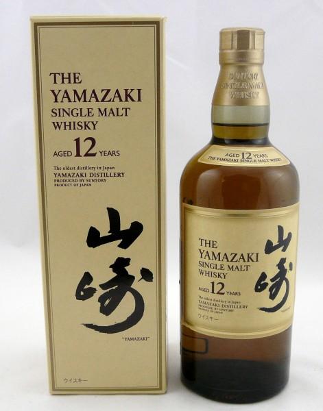 Yamazaki 12 years Japanese Backlabel