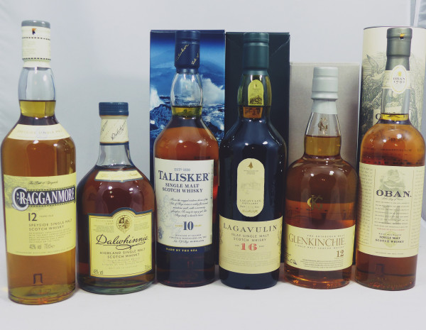 Classic Malts of Scotland - 6 Flaschen Lagavulin Talisker Oban Cragganmore Dalwhinnie Glenkinchie