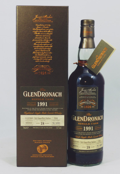 GLENDRONACH 18 Jahre Vintage 1991 PX Sherry #3182