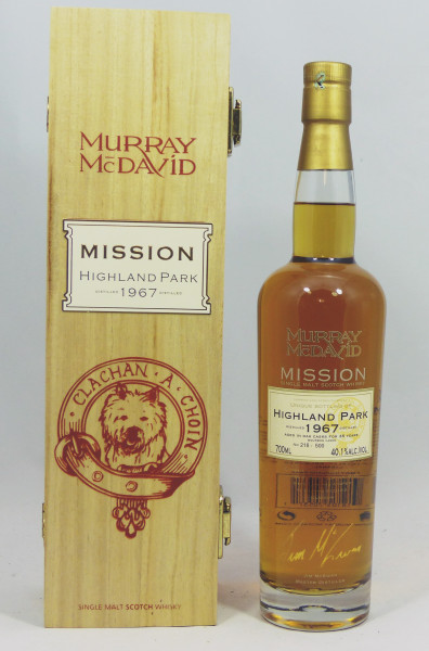 Highland Park 1967 35 Jahre Murray McDavid Mission Cask Strength Series