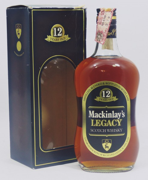 MACKINLAY'S LEGACY 12 YEARS BLENDED SCOTCH WHISKY - old Style (1970s)