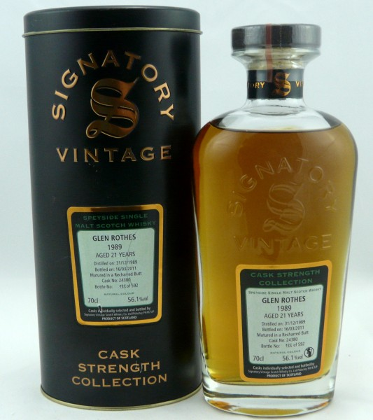 Glenrothes 21 Years 1989 Signatory Cask Strength Collection