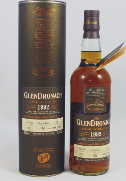 GLENDRONACH 26 Jahre 1992 Single #66 Oloroso Sherry Butt exclusively for Abbey