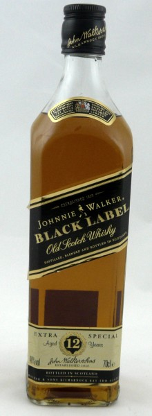 Johnnie Walker 12 years Black Label Extra Special - old Style