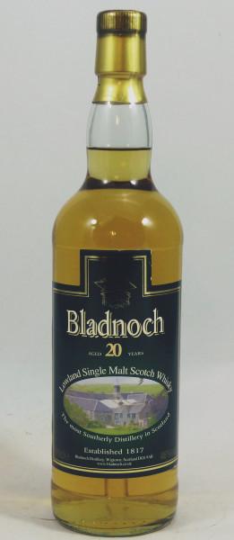 Bladnoch 20 Jahre Distillery Label