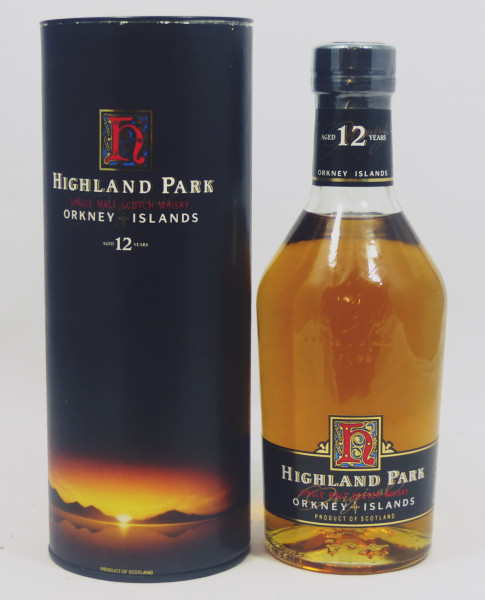 Highland Park 12 Jahre old Label Dumpy Bottle