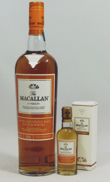Macallan AMBER The 1824 Series inkl. Mini 5cl