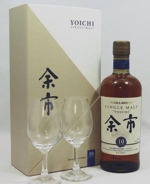 Nikka Yoichi 10 Years GP mit 2 Gläsern