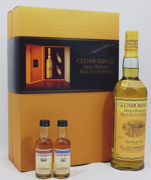 Glenmorangie 10 Jahre old Style in GEPA mit 2 Miniaturen