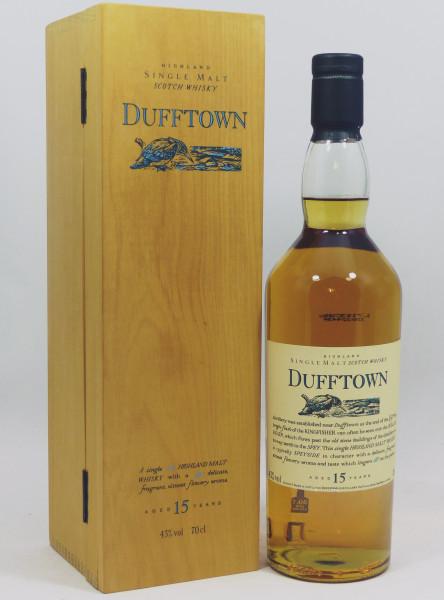 Dufftown 15 Jahre Flora und Fauna in Woodenbox