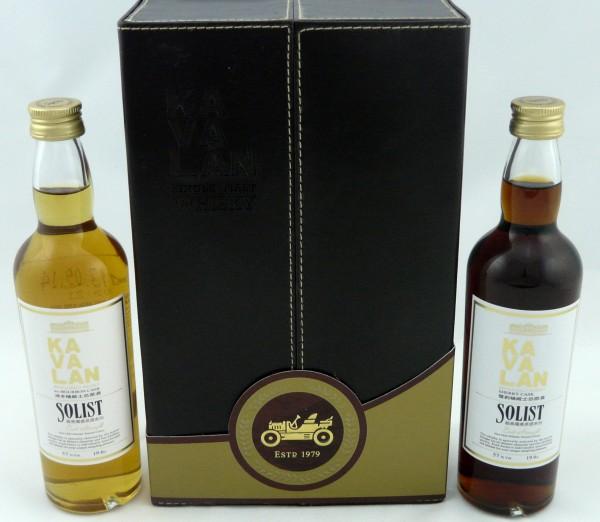 Kavalan Solist Geschenkpackung Sherry Oak & Ex-Bourbon Oak 2 x 19.6cl