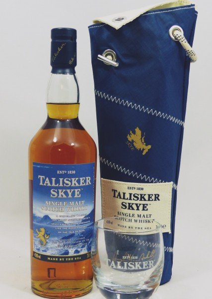 Talisker SKYE Sail Pack und 1 Talisker Rocking Tumbler