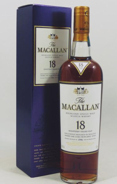 Macallan 18 Jahre 1996 Sherry Oak