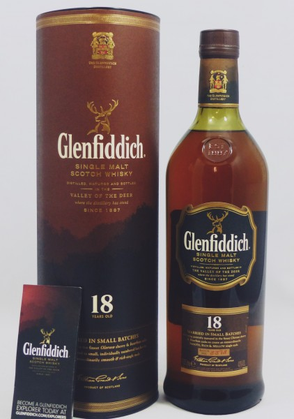 Glenfiddich 18 Jahre Small Batch Reserve- Batch 3378 - 1 Liter