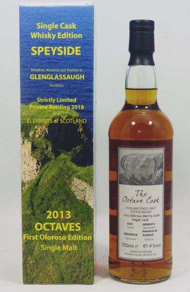 Glenglassaugh 2013-2018, Oloroso Sherry Cask SC61 OCTAVE 61.4%