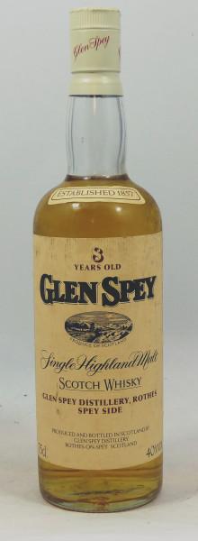 Glen Spey 08 Year old - OB Bottling 80's