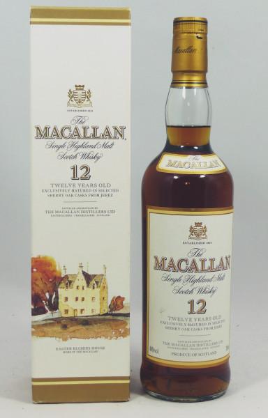 Macallan 12 Jahre alte Sherry Oak Abfüllung - old Style