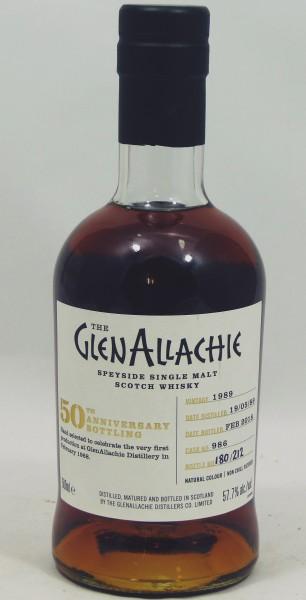 Glenallachie Vintage 1989 #986 50th Anniversary Bottling
