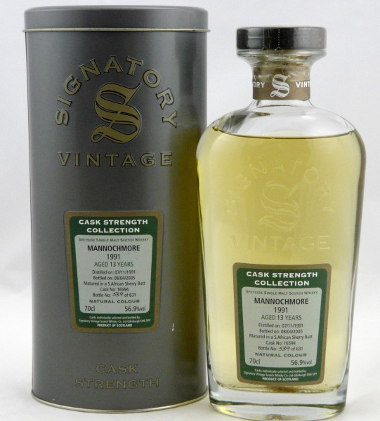Mannochmore 13 Jahre 1991 Signatory Cask Strength Collection