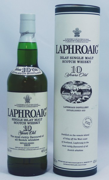 Laphroaig 10 Jahre alte Abfüllung Old Style with feathered crest badge