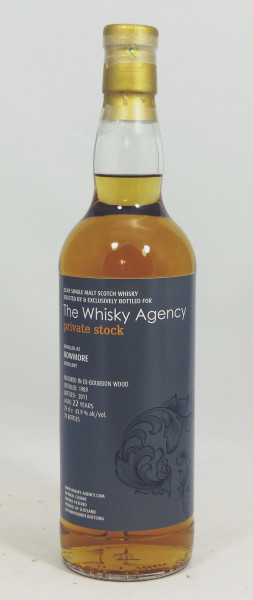 Bowmore 22 Jahre 1989 The Whisky Agency Private Stock