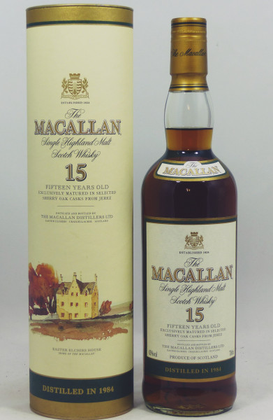 Macallan 15 years 1984 Sherry Oak Casks from Jerez
