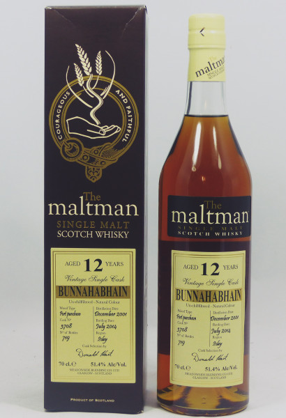Bunnahabhain 12 Jahre 2001 - The Maltman Single Cask 3708