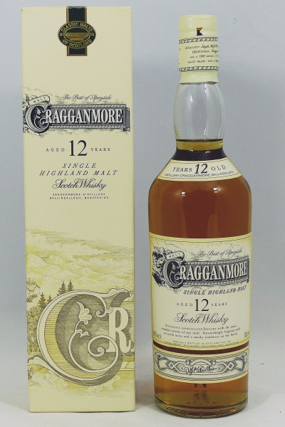 Cragganmore 12 Jahre old two-part Label