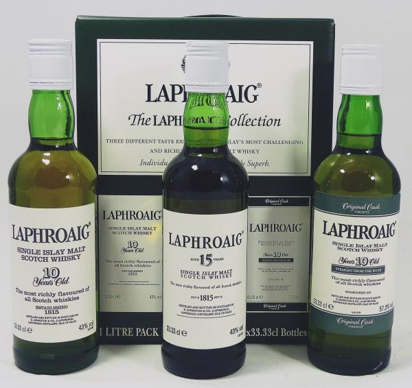 Laphroaig The Laphroaig Collection mit 10Y Cask Strength 57,3% 3 x 33,33 cl