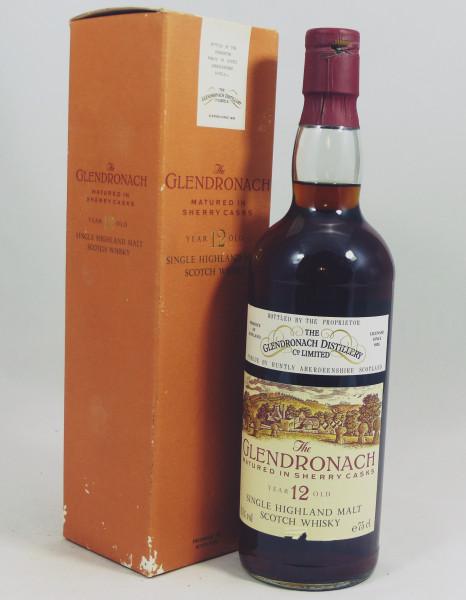 Glendronach 12 Jahre matured in Sherry Casks 80's - Dark Sherry