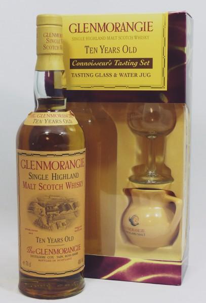 Glenmorangie 10 Jahre old Style Head Cooper in GEPA mit Glas und Wasserkrug,