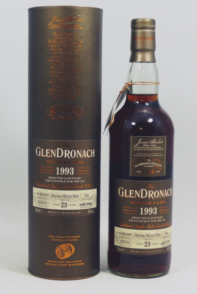 GLENDRONACH 23 Jahre 1993 Single #564 Oloroso Sherry Butt exclusively for UK