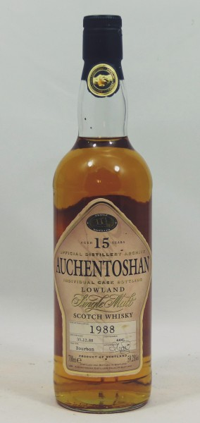 Auchentoshan 15 Jahre 1988 Single Cask Bottling #4441 20th Anniversary Glasgow-Nürnberg