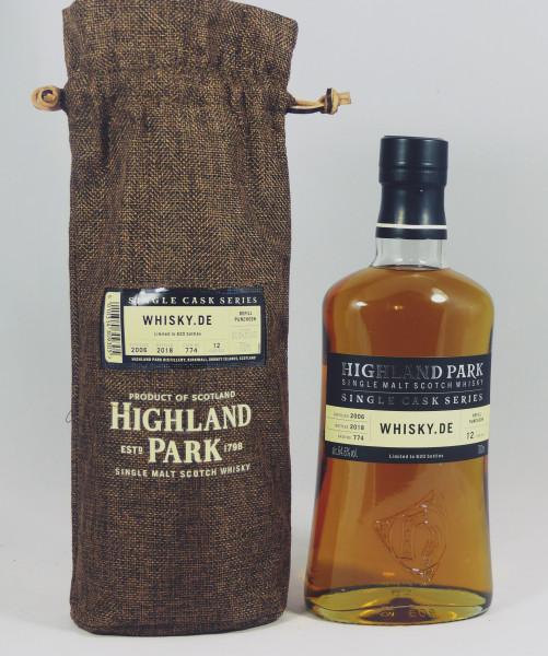 Highland Park 12 years 2006 Single Cask 774 for Whisky.de
