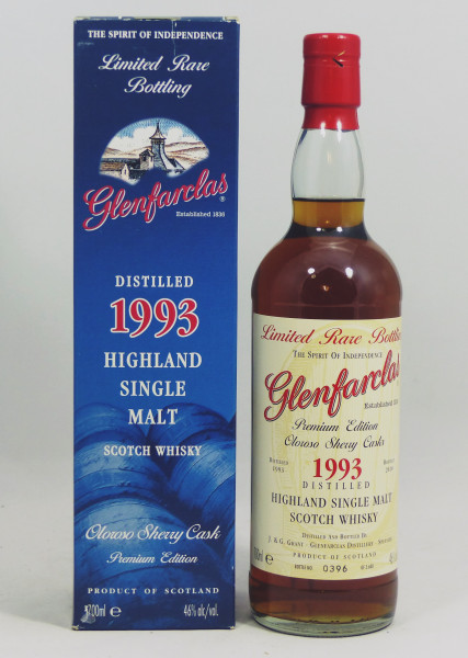 Glenfarclas 1993 b. 2010 Limited Rare Bottling Oloroso Sherry Casks