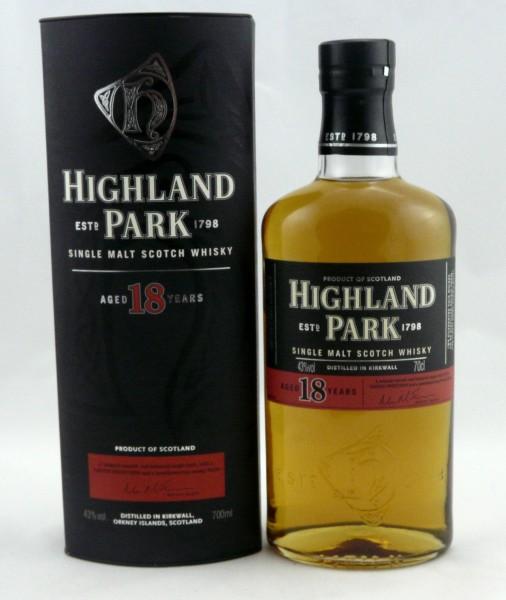 Highland Park 18 Jahre, ältere Abfüllung L0275W L4