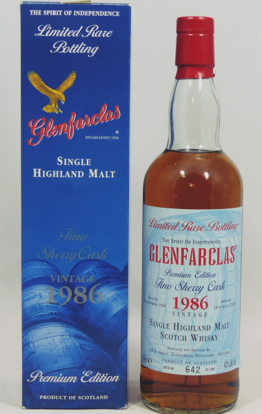 Glenfarclas 1986 b. 2002 Limited Rare Bottling Fino Sherry