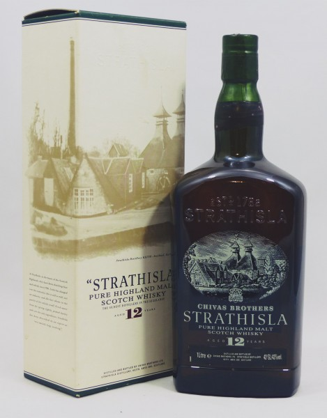 Strathisla 12 years old Glass printed Label 1L