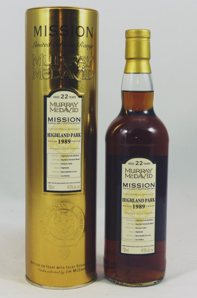Highland Park 22 years 1989 Murray McDavid Mission Gold Series